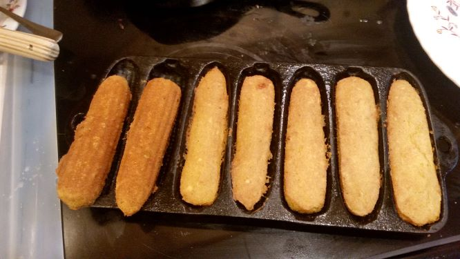 golden-brown corn-sticks, hot from the oven