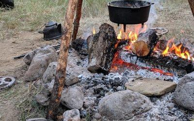 Campfire Chili Dinner