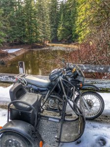Andys KLR at Lost Creek Bridge