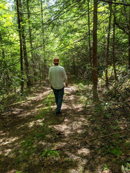 Mike walking